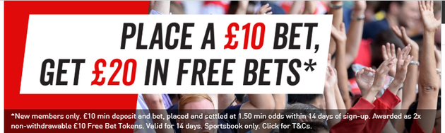 Virgin Bet Bet £10 Get £20